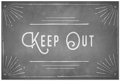 CGSignLab Chalk Corner Window Cling 27x18 5-Pack Keep Out