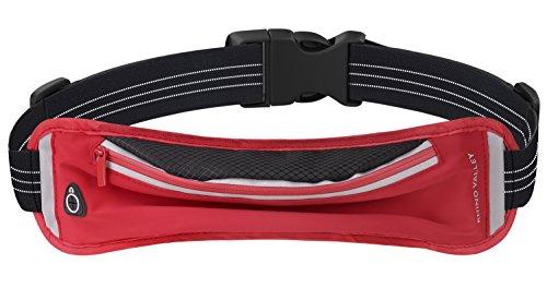 Rhino Valley Marsupio Sportivo, Cintura da Corsa Allenamento, Waist Bag Resistente al Sudore & alla Acqua, per iPhone 7/6S Plus, Galaxy S8 e altri Smartphone fino a 6�? Rosso