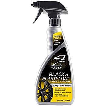 Eagle One E301345400 Black and Plastic-Coat Wheel Cleaner, 23 fl. oz.