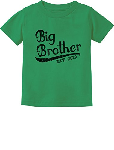 Tstars - Gift for Big Brother 2019 Toddler Kids T-Shirt 4T Green