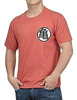 Dragon Ball Z Kame Symbol Mens Orange Heather T-shirt