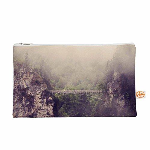 Kess eigene 12,5x 21,6cm Sylvia COOMES Foggy Mountain Landschaft Alles Tasche–Braun/Grün