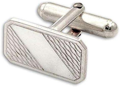 Sayers London Sterling Silver Patterned Swivel Back Cufflinks