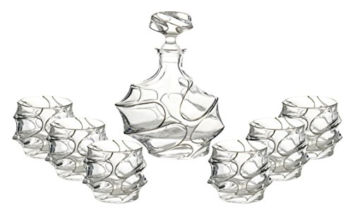 WINE BODIES ZG26400 Liquor Decanters, Silver by Wine Bodies