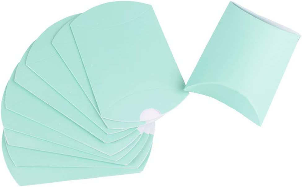 AKOAK 100 Pcs Wedding Creative Pillow Box, Candy Gift Box, Suitable for Wedding Birthday and Christmas (Green)