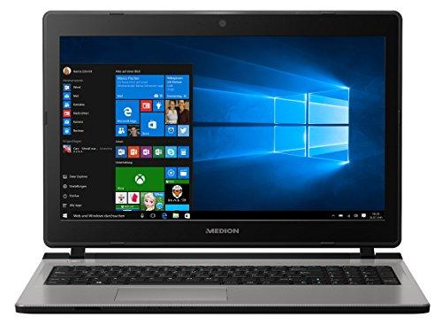 MEDION AKOYA E6435 39,6 cm (15,6 Zoll mattes HD Display) Notebook (Intel Core i5-7200U, 4GB DDR4 RAM, 256GB SSD, Intel HD 620, Win 10 Home) silber