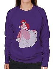Disney Kerst Prinses Ariel Holding Jurk Dames Sweatshirt