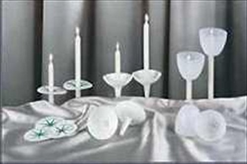 Emkay Candles 54158 Candle Reuseable Natural Plastic Shields