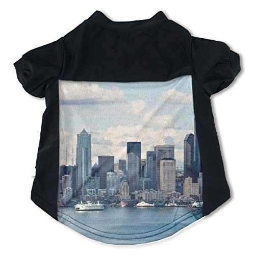 (Fbve5dg Cosy Seattle Pet T Shirts for Doggy Pussy M)