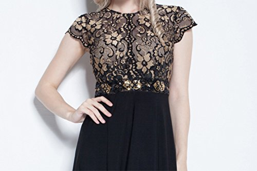 cotyledon Lace Patchwork Formal Party Dresses Short Sleeve Sw1TqnSr