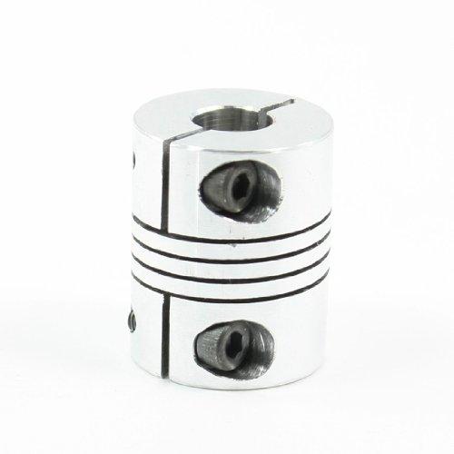 Uxcell a13052700ux0257 - Acoplador de eje de motor paso a paso CNC de 6 a 8 mm para codificador