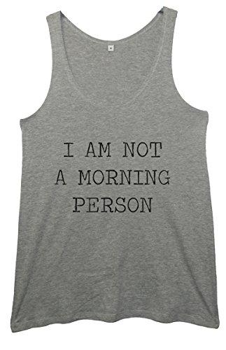 I Am NO es una de gloria de la mañana Person para túnicas de chica para mujer de costura para chalecos de gris