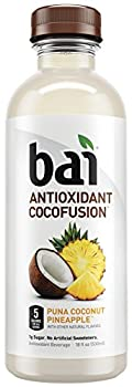 Bai Cocofusion Puna Coconut Pineapple, Antioxidant Infused Beverage, 18 Ounce (Pack of 6)