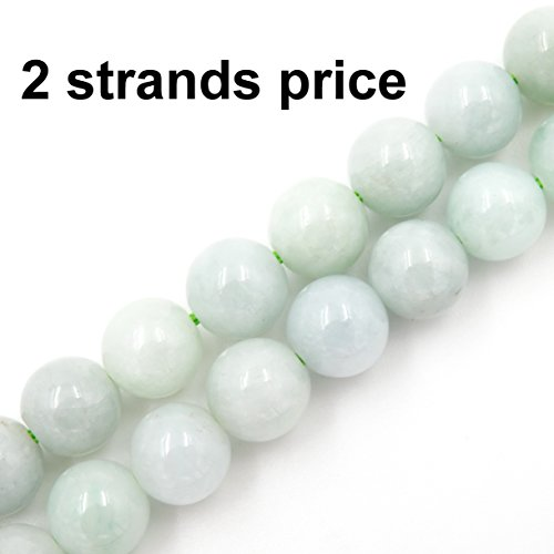 Precious gemstone beads for jewelry making, 100% natural AAA grade, sold per bag 2 strands inside (Burma Jade, 6mm)