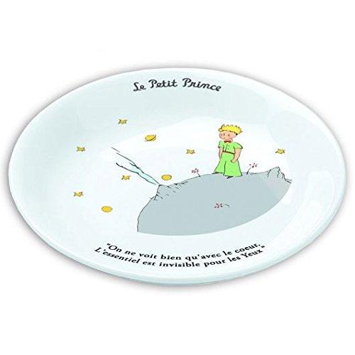 Assiette creuse 18cm Le Petit Prince sur sa plan/ète On ne voit bien quavec le c/œur/…