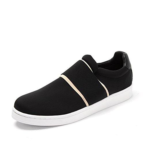 Primavera confort aire redondo zapato cabeza/Un pedal skate zapatos Negro