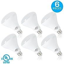LVWIT BR30 LED Bulb 5000K Daylight 800 Lumens Flood Light Bulb 75W Equivalent LED Light Bulbs Non-dimmable E26 Medium Base UL Listed 6-Pack