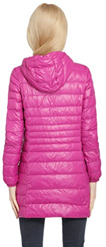 Sci Giacca Cappotto Long Packable Casual Light Rose Women Vento Neve Isolata Outdoor Hooded Winter Salamaya Jacket Puffer Ultra Pillow Down A x7gqZwPfXw