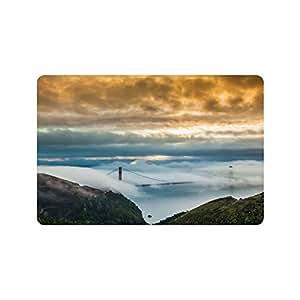 Beautymats Diseño Especial Custom antiniebla más de Puente Golden Gate Personalizado Antideslizante se Puede Lavar a máquina. Cuarto de baño Interior/Al Aire Libre Felpudo 23.6por 15,7Pulgadas