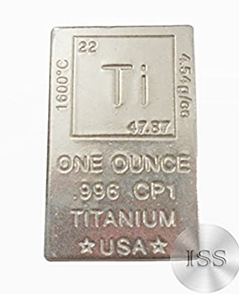 Amazon Fine 996 Cp1 Pure Titanium One Ounce Bar Ingot