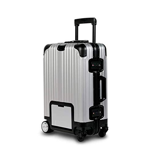 Lahshion Hard Shell Travel Carry On Cabin Hand Luggage Suitcase with Wheels, for Business Travel Adult Teens,ASilver