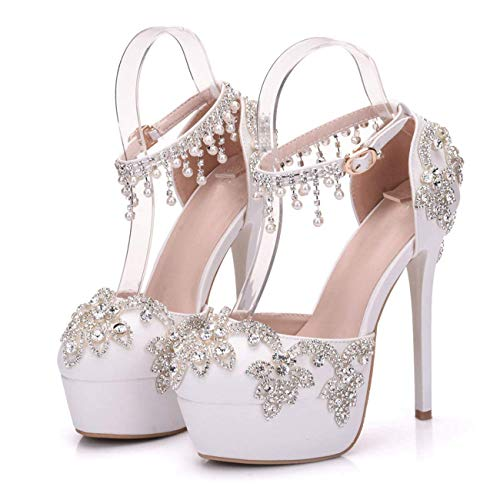 Colore Chains Heel Formal Chains Colore Bridal bianca Wedding ZHRUI Party Ankle   aa033a