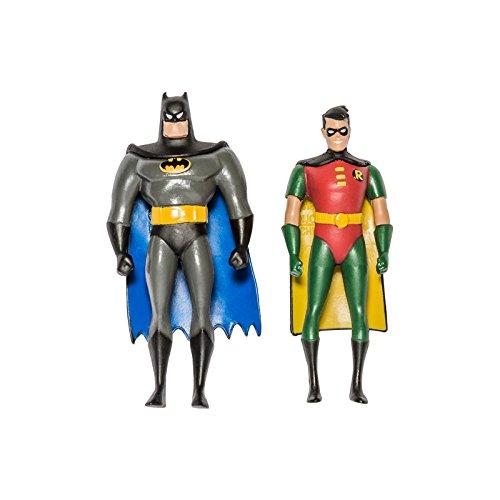 NJ Croce Batman: TAS Batman and Robin 3-Inch Bendable Action Figures 3 Inch Mini Action Figures