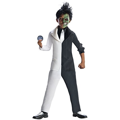 Rubies DC Super Villains Two Face Costume, Child Medium (Villain Costumes For Boys)
