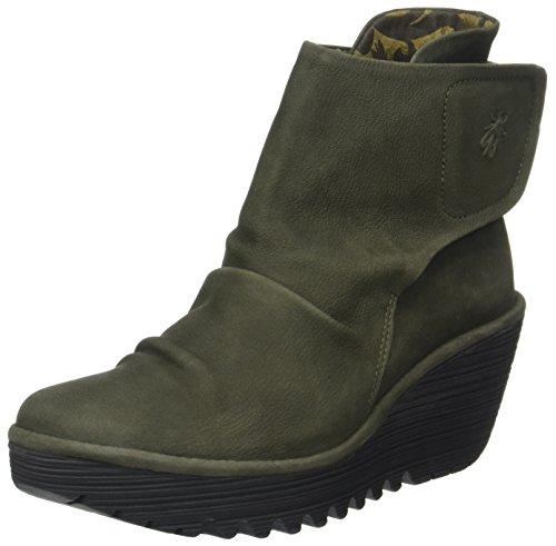 Fly London Women's Yomi765fly Boots Green (Seaweed) ZaDEV7fS