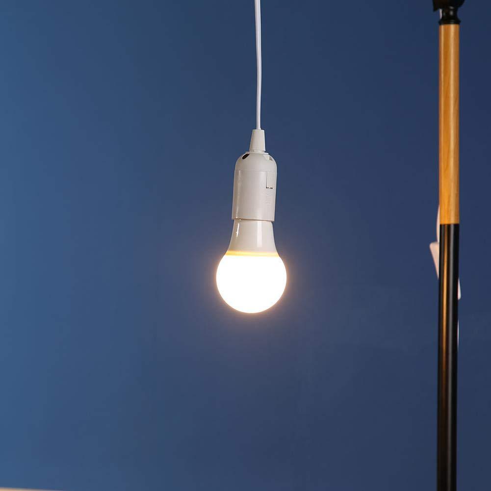 Domybest Porte Lampe Suspension Base de Lampe e 27 avec Fil de Commutation Support de Lampe Universel E27 Douille Ampoule e27 avec C/âble dalimentation de 1.7 m