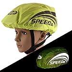41d5vinIeHL. SS150 Urisgo Parapioggia Copertura per Casco da Bici Telo Copri Bicicletta con Striscia Riflettente Parapioggia per Zaino