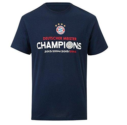 FC Bayern T-Shirt Kids Deutscher Meister 2016 Gr. 140