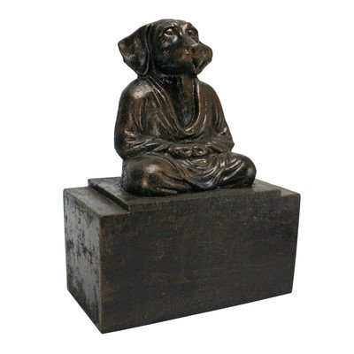 Design Toscano Spirit of Zen Meditating Dog Bookend (Set of 2)