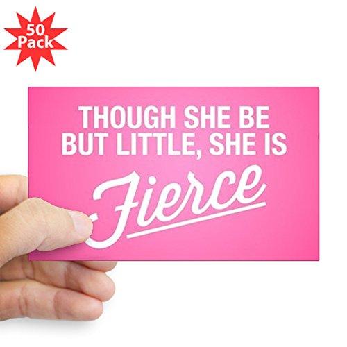 CafePress - She Is Fierce - Sticker (Rectangle 50 pk) by CafePress