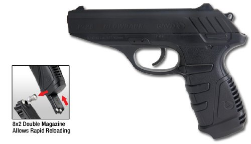 Gamo 611138054 P-25 Blowback CO2 Powered .177 Caliber Air Pistol