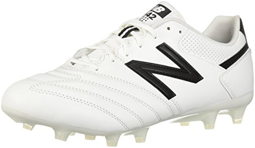 (New Balance Men's 442 Team FG V1 Classic Soccer Shoe White/Black 9.5 2E)