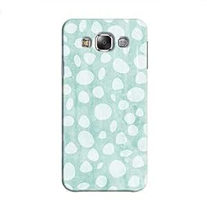 Cover It Up - Pebble Print Blue Galaxy E7 Hard Case