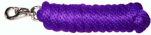 (Hamilton Extra Heavy Poly Rope Lead with Bull Snap, Purple, 5/8