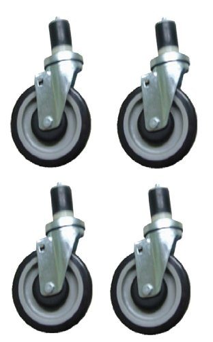 "(Set of 4) 5"" Prep / Work Table Casters w/o Brake by pal"