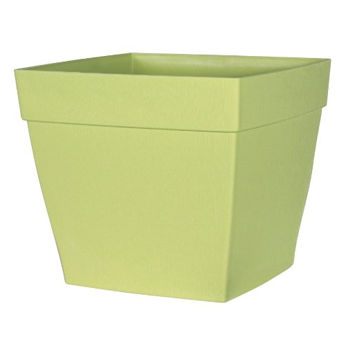 picture of DCN Plastic N361634 Harmony Patio Planter, Bamboo Green, 16-Inch