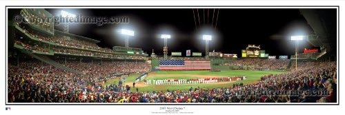 Boston Red Sox 2007 World Series Opening Ceremonies Standard Framed Panoramic Photo