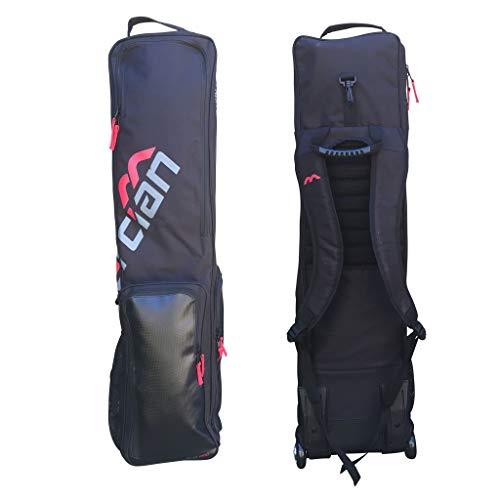 (Mercian Evolution PRO Wheeled Stick Kit Bag - Black/Red)