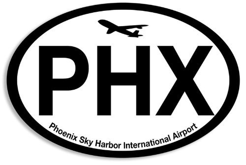 Oval PHX Sticker (phoenix airport code sky harbor - Airport Phoenix Harbor Sky