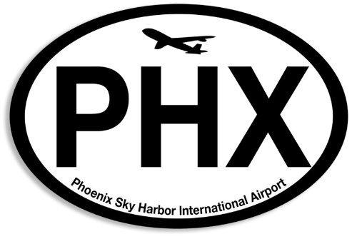 Oval PHX Sticker (phoenix airport code sky harbor - Phoenix Harbor
