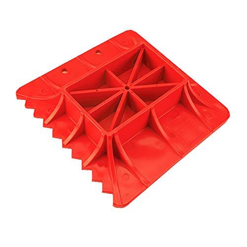 d Base for Hi Lift Jack PP Pad to Alleviate Jack Hoisting Sinkage (Red) ()
