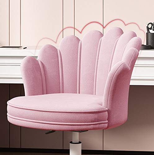 LIYANJJ skrivbordsstol sammet uppgift sminkstol hem kontor stol justerbar rullande svängbar stol med hjul för tonåringar vuxna sovrum studierum