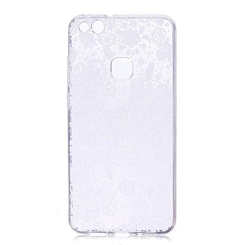 Funda para Huawei P10 Lite , IJIA Transparente Galletas Oreos TPU Silicona Suave Cover Tapa Caso Parachoques Caja Suave Carcasa Shell Cubierta para Huawei P10 Lite (5.2) HX66