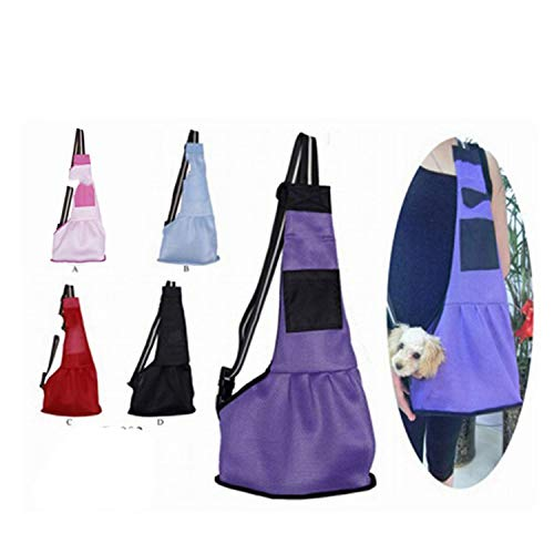 Flower cat pet bag Pet Dog Carrying Bag Mesh Cloth Puppy Chihuahua Yorkies Small Cat Slings Backpack,mesh red,L