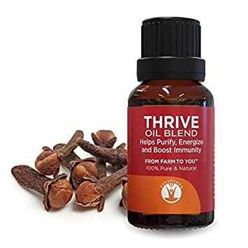 GuruNanda Thrive Essential Oil Blend - Heal with Nature - Best Essential Oils Blend for Immune Support - 100% Pure Therapeutic Grade Aromatherapy for Diffusers- 15ml