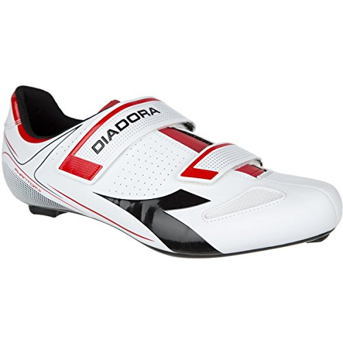 Diadora Phantom II Shoes - Men's White/Red/Black, 40.0
